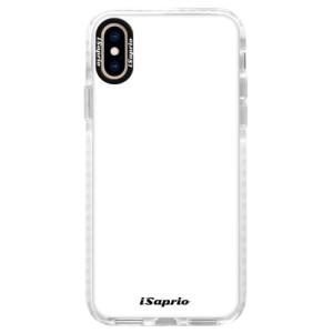 Silikonové pouzdro Bumper iSaprio 4Pure bílé na mobil iPhone XS