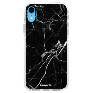 Silikonové pouzdro Bumper iSaprio Black Marble 18 na mobil Apple iPhone XR