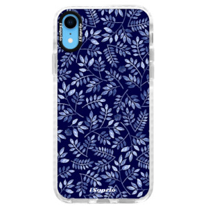 Silikonové pouzdro Bumper iSaprio Blue Leaves 05 na mobil Apple iPhone XR