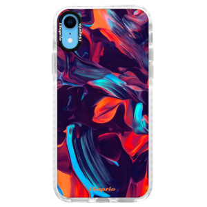 Silikonové pouzdro Bumper iSaprio Color Marble 19 na mobil Apple iPhone XR