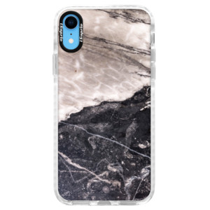 Silikonové pouzdro Bumper iSaprio BW Marble na mobil Apple iPhone XR