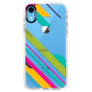 Silikonové pouzdro Bumper iSaprio Color Stripes 03 na mobil Apple iPhone XR