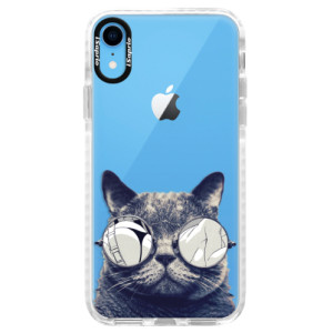 Silikonové pouzdro Bumper iSaprio Crazy Cat 01 na mobil Apple iPhone XR