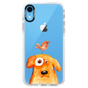 Silikonové pouzdro Bumper iSaprio Dog And Bird na mobil Apple iPhone XR