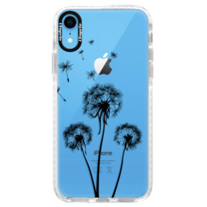 Silikonové pouzdro Bumper iSaprio Three Dandelions black na mobil Apple iPhone XR