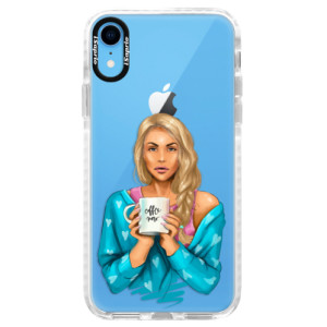 Silikonové pouzdro Bumper iSaprio Coffe Now Blond na mobil Apple iPhone XR