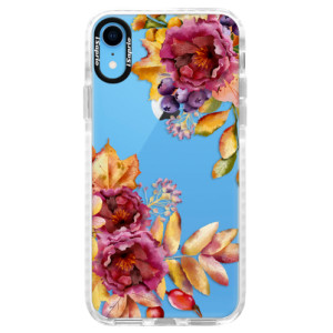 Silikonové pouzdro Bumper iSaprio Fall Flowers na mobil Apple iPhone XR