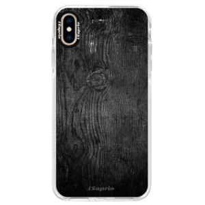 Silikonové pouzdro Bumper iSaprio Black Wood 13 na mobil Apple iPhone XS Max