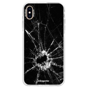 Silikonové pouzdro Bumper iSaprio Broken Glass 10 na mobil Apple iPhone XS Max