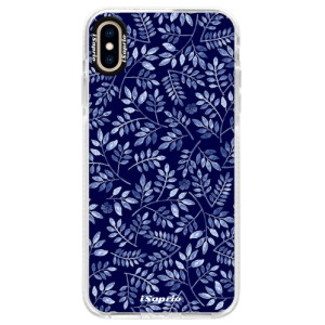 Silikonové pouzdro Bumper iSaprio Blue Leaves 05 na mobil Apple iPhone XS Max