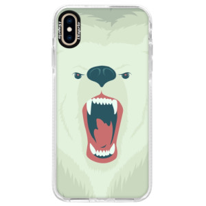 Silikonové pouzdro Bumper iSaprio Angry Bear na mobil iPhone XS Max
