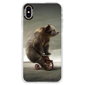 Silikonové pouzdro Bumper iSaprio Bear 01 na mobil Apple iPhone XS Max