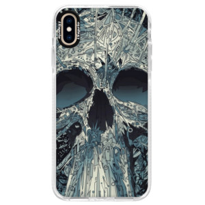 Silikonové pouzdro Bumper iSaprio Abstract Skull na mobil iPhone XS Max