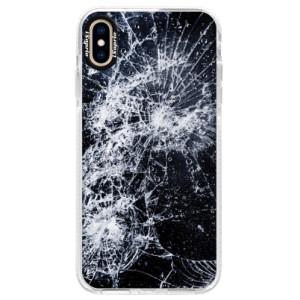 Silikonové pouzdro Bumper iSaprio Cracked na mobil Apple iPhone XS Max