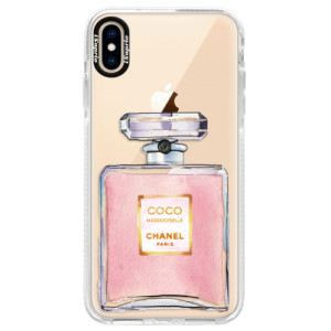 Silikonové pouzdro Bumper iSaprio Chanel Rose na mobil Apple iPhone XS Max