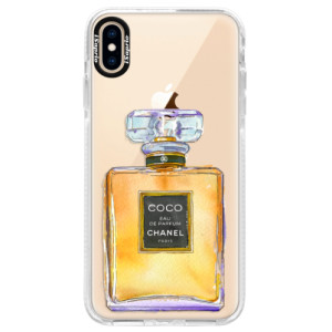 Silikonové pouzdro Bumper iSaprio Chanel Gold na mobil Apple iPhone XS Max