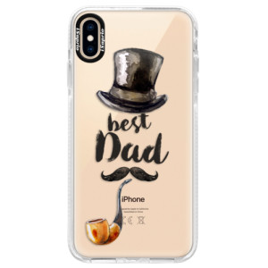 Silikonové pouzdro Bumper iSaprio Best Dad na mobil Apple iPhone XS Max