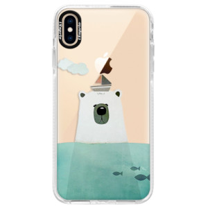 Silikonové pouzdro Bumper iSaprio Bear With Boat na mobil Apple iPhone XS Max