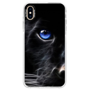 Silikonové pouzdro Bumper iSaprio Black Puma na mobil Apple iPhone XS Max