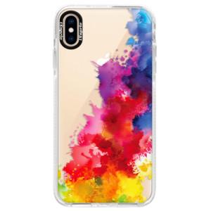 Silikonové pouzdro Bumper iSaprio Color Splash 01 na mobil Apple iPhone XS Max