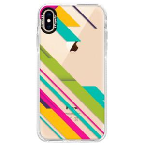 Silikonové pouzdro Bumper iSaprio Color Stripes 03 na mobil Apple iPhone XS Max