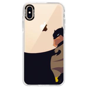 Silikonové pouzdro Bumper iSaprio BaT Comics na mobil iPhone XS Max