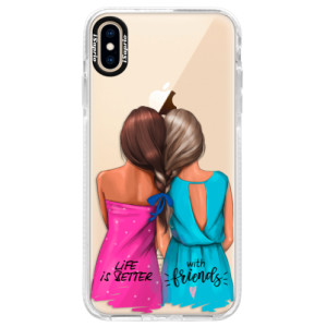 Silikonové pouzdro Bumper iSaprio Best Friends na mobil Apple iPhone XS Max