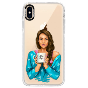 Silikonové pouzdro Bumper iSaprio Coffe Now Brunette na mobil Apple iPhone XS Max