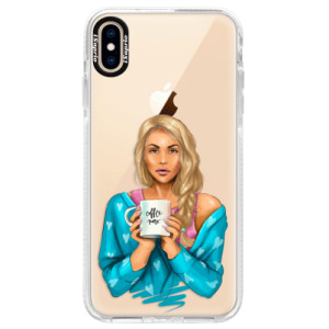 Silikonové pouzdro Bumper iSaprio Coffe Now Blond na mobil Apple iPhone XS Max