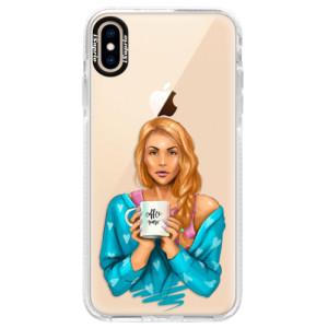 Silikonové pouzdro Bumper iSaprio Coffe Now Redhead na mobil Apple iPhone XS Max