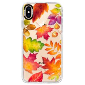 Silikonové pouzdro Bumper iSaprio Autumn Leaves 01 na mobil iPhone XS Max