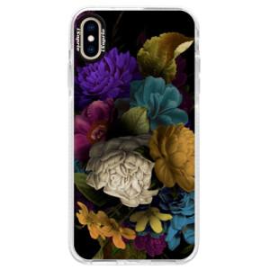 Silikonové pouzdro Bumper iSaprio Dark Flowers na mobil Apple iPhone XS Max