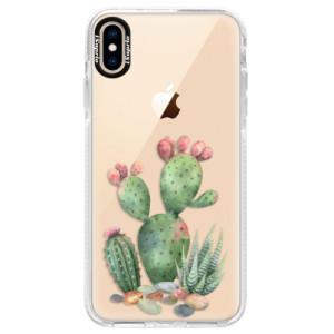 Silikonové pouzdro Bumper iSaprio Cacti 01 na mobil Apple iPhone XS Max