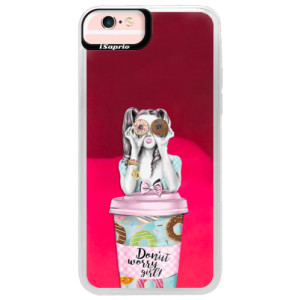 Neonové pouzdro Pink iSaprio Donut Worry na mobil Apple iPhone 6/6S