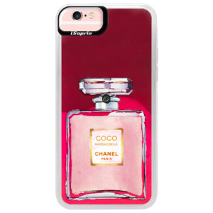 Neonové pouzdro Pink iSaprio Chanel Rose na mobil Apple iPhone 6/6S