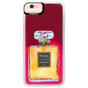 Neonové pouzdro Pink iSaprio Chanel Gold na mobil Apple iPhone 6/6S