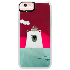 Neonové pouzdro Pink iSaprio Bear With Boat na mobil Apple iPhone 6/6S