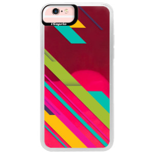 Neonové pouzdro Pink iSaprio Color Stripes 03 na mobil Apple iPhone 6/6S