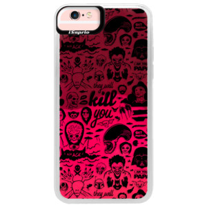 Neonové pouzdro Pink iSaprio Comics 01 black na mobil Apple iPhone 6/6S
