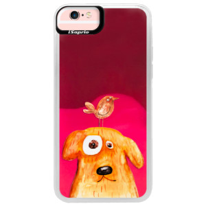 Neonové pouzdro Pink iSaprio Dog And Bird na mobil Apple iPhone 6/6S