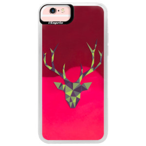 Neonové pouzdro Pink iSaprio Deer Green na mobil Apple iPhone 6/6S