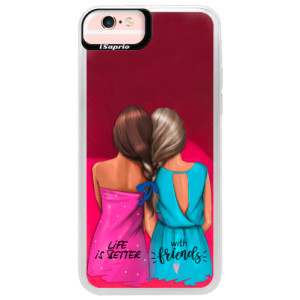 Neonové pouzdro Pink iSaprio Best Friends na mobil Apple iPhone 6/6S