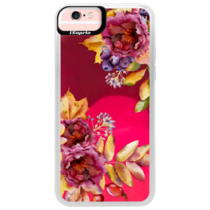 Neonové pouzdro Pink iSaprio Fall Flowers na mobil Apple iPhone 6/6S
