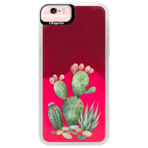 Neonové pouzdro Pink iSaprio Cacti 01 na mobil Apple iPhone 6/6S
