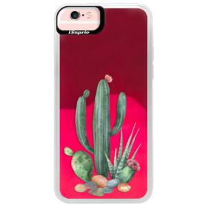 Neonové pouzdro Pink iSaprio Cacti 02 na mobil Apple iPhone 6/6S