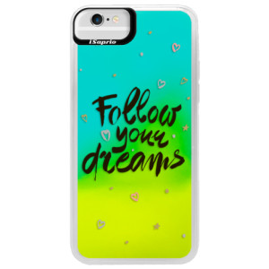 Neonové pouzdro Blue iSaprio Follow Your Dreams black na mobil Apple iPhone 6/6S