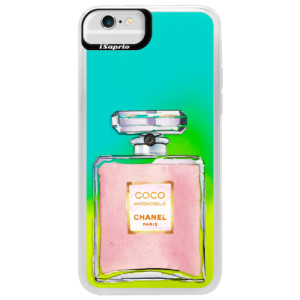 Neonové pouzdro Blue iSaprio Chanel Rose na mobil Apple iPhone 6/6S