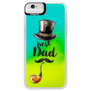 Neonové pouzdro Blue iSaprio Best Dad na mobil Apple iPhone 6/6S