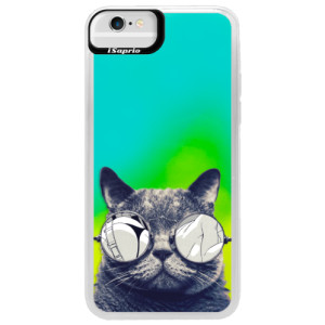 Neonové pouzdro Blue iSaprio Crazy Cat 01 na mobil Apple iPhone 6/6S