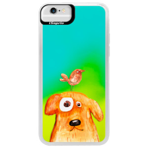 Neonové pouzdro Blue iSaprio Dog And Bird na mobil Apple iPhone 6/6S